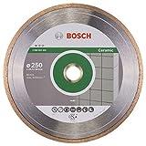 BOSCH Diamanttrennscheibe Standard für Ceramic, 250 x 30 und 25,40 x 1,6 x 7 mm, 2608602539
