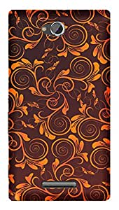 TrilMil Printed Designer Mobile Case Back Cover For Sony Xperia C / C2305
