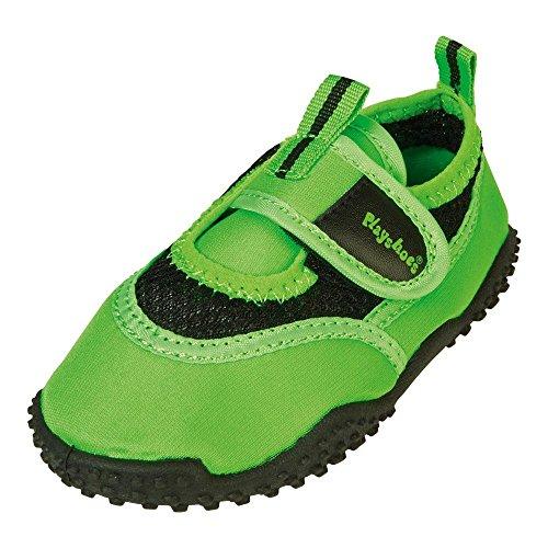 GALLUX - Mädchen Jungen Aqua Schuhe Badeschuhe Strandschuhe in Neonfarben Grün