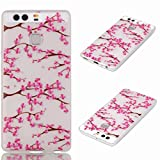 For Huawei P9/EVA-L09/EVA-L19/EVA-L29 (5.2 inches) Custodia Case, Ougger(TM) Trasparente Durable Slim TPU Gomma Silicone Flessibile Protettivo Bumper Rear Skin Cover Shell [Cool Fluorescenza Series] Design8