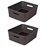 Bel Casa 2 Piece Royal Baskets, Medium, Brown