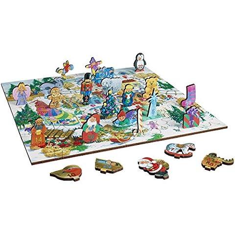 WENTWORTH in legno puzzle puzzle–Calendario dell' Avvento con 24personaggi stand-up - Whimsy Snowman