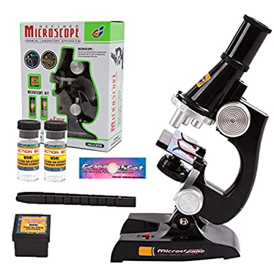 Kids Microscope, EgoEra® 100x 200x 450x Magnification Children Science Microscope Kit with LED Lights Includes Accessory Toy Set for Early Education from E-top