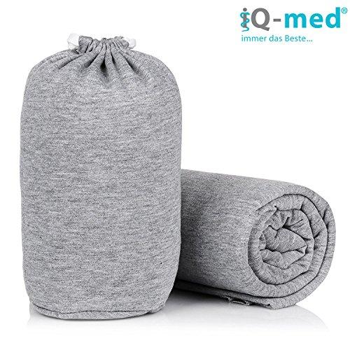 iQ-med Babytragetuch | für Neugeborene, bis 15 kg | BIO | atmungsaktiv | + Anleitung