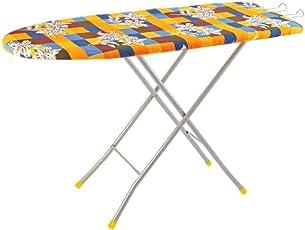 Kisha Wood Folding Ironing Board Stand with Iron Holder/Iron Table - Multicolour