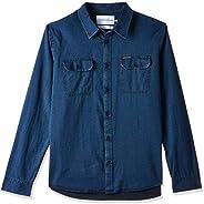 Calvin Klein Jeans Men's Herrigbone Ls S