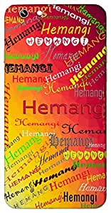 Hemangi (Golden Body) Name & Sign Printed All over customize & Personalized!! Protective back cover for your Smart Phone : Xiaomi Redmi 3
