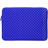 Evecase Premium Neoprene Sleeve Case Travel Carrying Storage Computer Bag for HP Stream 13 / 14 inch Laptop Notebook - Blue