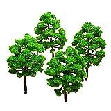 #4: Vosarea 10pcs 3.0 Inch Green Scenery Landscape Model Tree