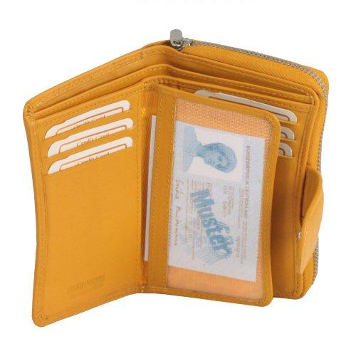 Greenburry Spongy - Portafoglio in pelle, 8,5 cm Petrolio
