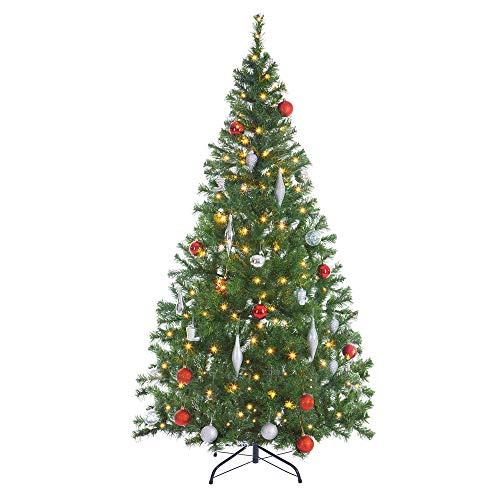 Casaria Weihnachtsbaum 150 cm Ständer LED Lichterkette künstlicher Tannenbaum Christbaum Baum Tanne Weihnachten PVC Grün