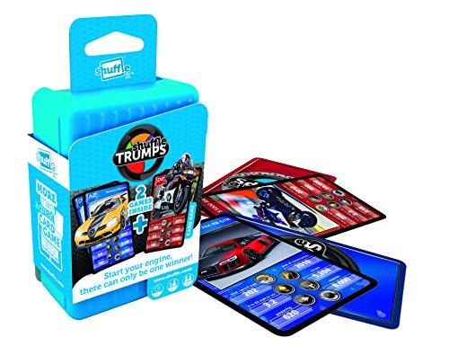 Shuffle Trumps Quartett Autos und Motorräder Kartenspiel