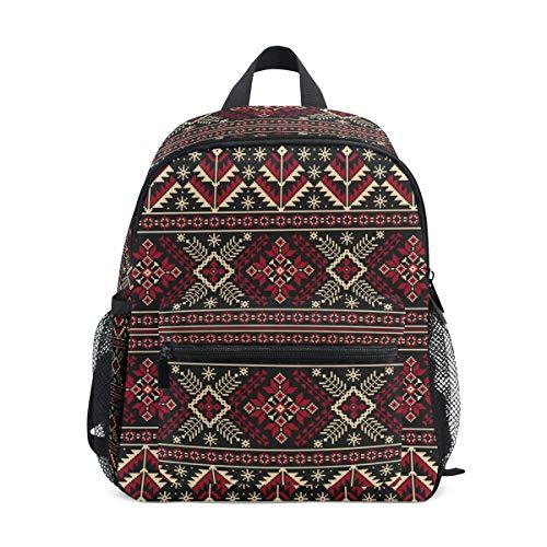 Mochila Escolar con diseño étnico de Folk, Mochila para...