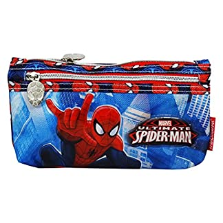 DC Comics Spiderman Power Bolsos Escolar Estuche para Lapices Plumas Plano Ninos
