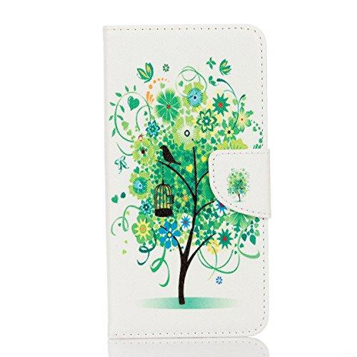 Voguecase® Pour Apple iPhone 7 4,7 Coque, Etui Housse Cuir Portefeuille Case Cover (London)de Gratuit stylet l'écran aléatoire universelle arbre vert