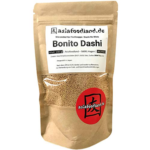 Asiafoodland - Big Pack - Bonito Dashi - Würzmittel für Fischsuppe - Dashi No Moto Pulver, 1er Pack (1 x 130g)
