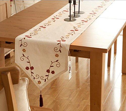 flores de jardín bordados, manteles modernas país de América minimalistas, mesa de...
