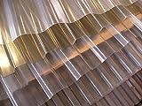 PVC - Lichtplatte Profil 70/18 Trapez - transparent (klar) 2500 x 1095 x 1,4 mm - Nutzbreite: 1045 mm - Lichtdurchlässigkeit 85% - UV - Licht- und witterungsbeständig - Herstellergarantie: 10 Jahre auf Witterungs- u. Lichtbeständigkeit, Hagelschlag bis 20 mm Körnung - Preis: Euro 10,50 m²