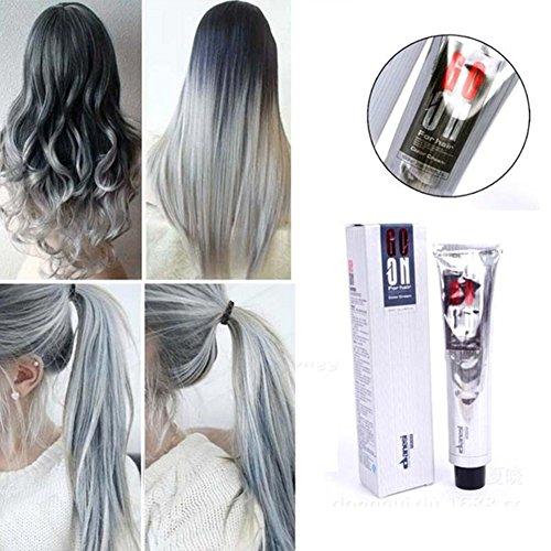 favolook temporäre Haar Creme Profi Einweg natur matt Frisur Dye Wachs silber Rauchquarz grau Punk Style Hair Dye Farbe Creme