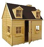 Spielhaus Maria- Kinderspielhaus Holz für den Garten, FSC zertifiziert/ TÜV geprüft inkl. Dachpappe