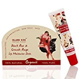 #2: Island Kiss , 100% Natural, Organic Lip Balm & Stain With Spf 15, Black Rose & Grenade Rouge, 14Gms