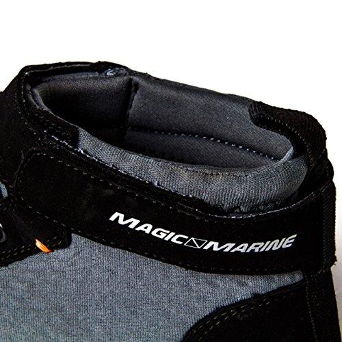Magica Marine Damen Herren Neopren Sneaker Alti Deckies Bootsschuhe Nero / Grigio
