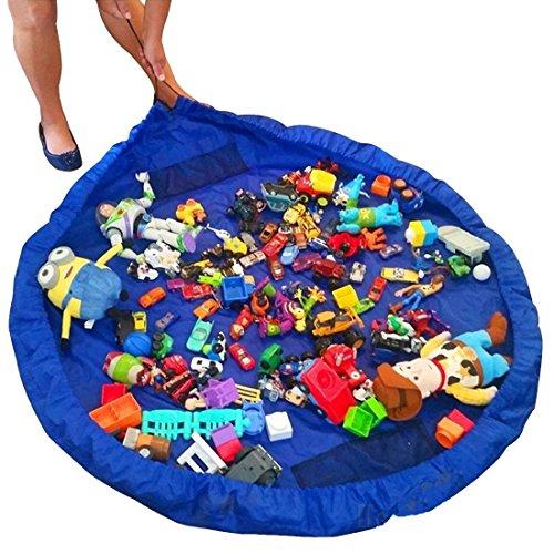 JJPRIME - Tapete de juego grande con cordón para niños, Bolsa de almacenamiento con juguetes con cordón para niños,150cm