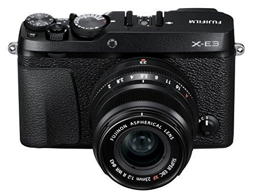 Fujifilm X-E3 Mirrorless Digital Camera w/XF23mmF2 R WR Kit - Black