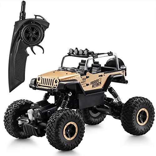 RC-Car118-Remote-Control-Electric-Car-24Ghz-4WD-High-Speed-30-MPH-RC-Rock-Aluminum-Body-Racing-Jeep-Car-Electric-Remote-Control-Off-Road-Monster-Truck-with-LED-Light-Best-Christmas-Gift-for-Kids-and-A