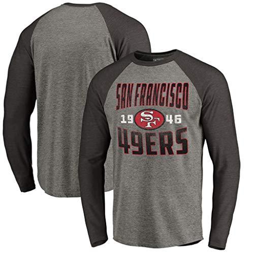 YUNMO Rugby Match San Francisco 49ers Trainingsanzug lässig T-Shirt Sweatshirt Langarm (Size : L) -