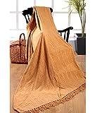 Elite Home Collection - Colcha para sofá o cama de matrimonio (150 x 200cm, 100% poliéster indio), color beige