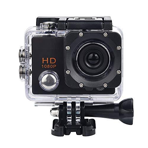 Gaddrt Sport Kamera Digitalkamera Wasserdichte Kamera HD 1080P Sport Action Kamera DVR Cam DV Video Camcorder (Schwarz)