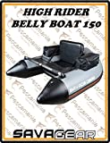 Savage Gear High Rider Belly Boat 150 - Bellyboot zum Bootsangeln im See & Meer, Schlauchboot, Bellyboat, Belly Boot