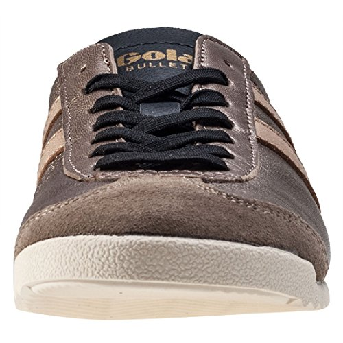 Gola Bullet Metallic Femmes Baskets Brown Gold