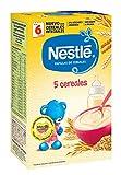 Nestlé Papilla 5 cereales - Alimento Para bebés - Paquete de 6x600 g - Total: 3.6kg