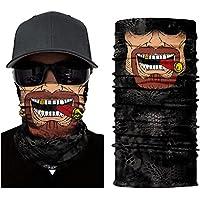 Pañuelo multifunción calavera, máscara, payaso, pañuelo para el cuello, Halloween, disfraz, motocicleta, esquí, caza, bicicleta, #8