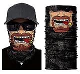 ILOVEDIY Multifunktionstuch Totenkopf Maske Clown Halstuch Halloween Kostüme Motorrad Ski Jagen Fahrrad (#8)