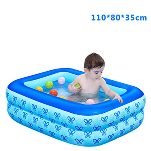 Enfant gonflable Bain gonflable Piscine Épaissir Isolation bébé Piscine plastique Bath Pliez Pompe à pied eau Playground Tub Ocean Ball Pool Pataugeoire