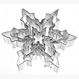 meisijia 5 stücke Schneeflocke Edelstahl Ausstechformen Kuchen Backform Kochen Werkzeuge
