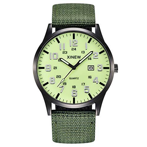 UINGKID Collection Unisex-Armbanduhr Herren Uhren Ultra Dünne Männer Junge runde zifferblatt Nylon Strap Band militär Datum Quarz Armbanduhr Geschenk