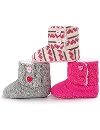 Kfnire Zapatos de Bebé de Invierno, Botas de Suela Blanda Antideslizante Bebé con Forro Polar 0-18 Meses