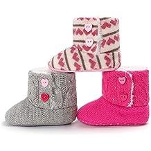 Kfnire Zapatos de Bebé de Invierno, Botas de Suela Blanda Antideslizante Bebé con Forro Polar