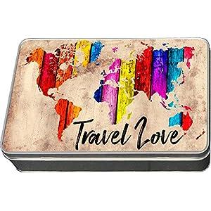 Cadouri Blechdose TRAVEL LOVE Geschenkdose Aufbewahrungsdose