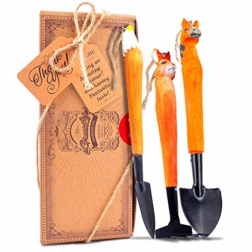 Preisvergleich Produktbild aGreatLife Kids Gardening Kit: Handcrafted Wooden Tools for Gardeners of all Ages - Well-Made and Finely Crafted with Love - Perfect Garden Gift Idea for Everyone