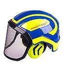 Protos Sicherheitshelm Integral Forest Gehörschutz, Ausstattung:feines Visier, Farbe:blau/gelb
