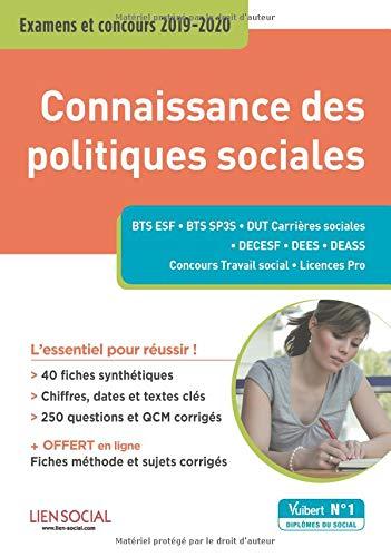 Connaissance des politiques sociales - Examens et concours 2019-2020 par Christelle Jamot-Robert