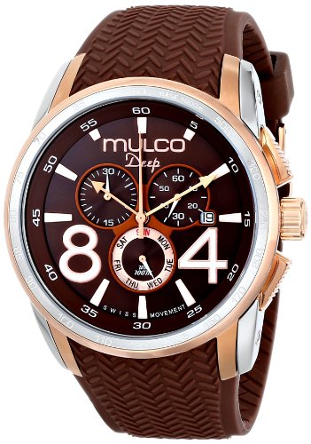 MULCO Unisex MW1-29849-033 Analog Display Swiss Quartz Brown Montre