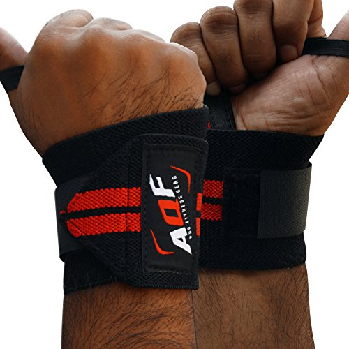 aqf-power-weight-lifting-wrist-wraps-supports-gym-training-fist-straps-black-sold-as-pair-one-size-f