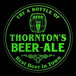 4x ccpn1354-g THORNTON'S Best Beer & Ale in Town Bar Pub 3D Coasters