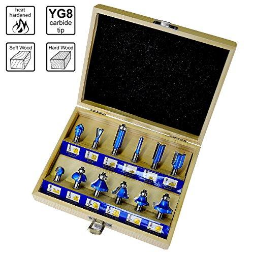 Rand Bosch Professional 6tlg und Kantenfr/äser Set f/ür Holz, f/ür Oberfr/äsen mit 1//4 Zoll Schaft